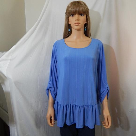 25ca496d2bf948 NWT Women s Kohl s Apt 9 1X Top Shirt Blouse